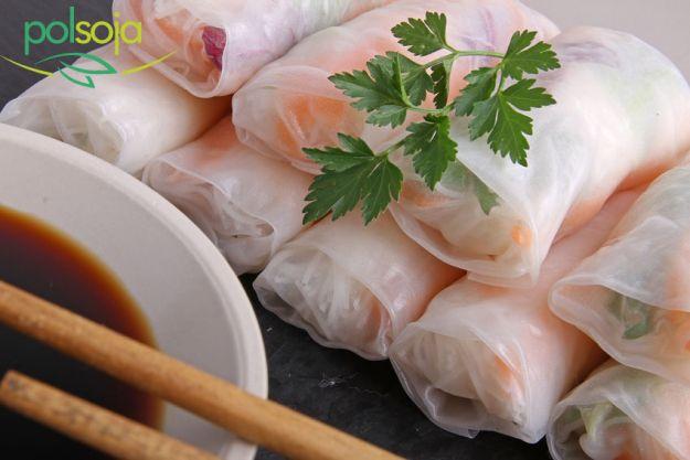 Spring rolls z tofu marynowanym