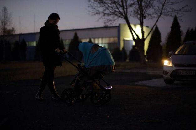 Odblaski w wózkach dziecięcych