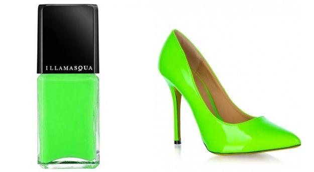 Neonowe paznokcie pasujące do butów!
