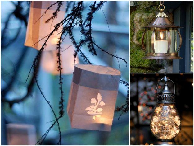 Stylowy lampion do ogrodu