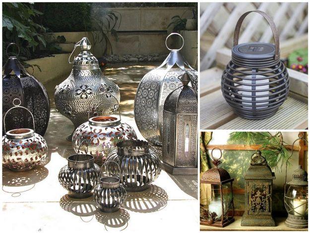 Lampiony ogrodowe w stylu indyjskim