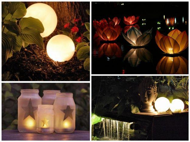 Oświetlenie do ogrodu -lampiony