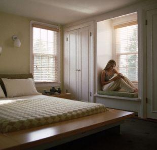 Relaksuj�ce siedzisko pod oknem