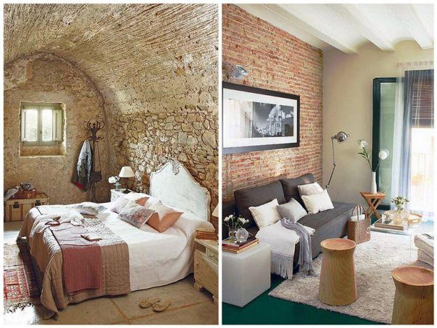 Modne wnętrze - ceglana ściana