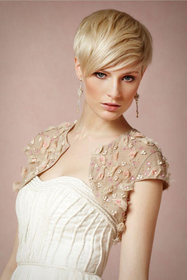 10 fryzur ślubnych z krótkich włosów!
