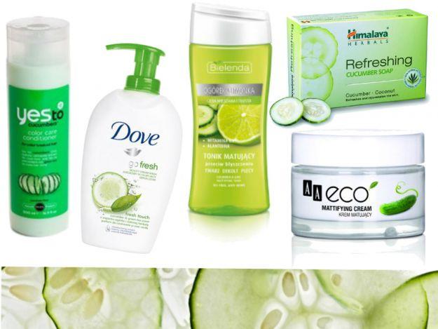 Kosmetyki z ogórkiem - oczyszczają, nawilżają i koją skórę!