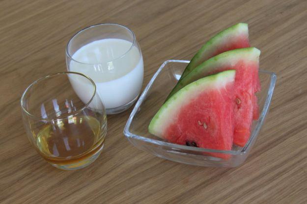 Składniki na arbuzowy drink