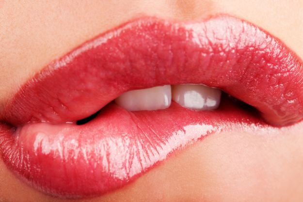 Triki na pięknie różowe usta