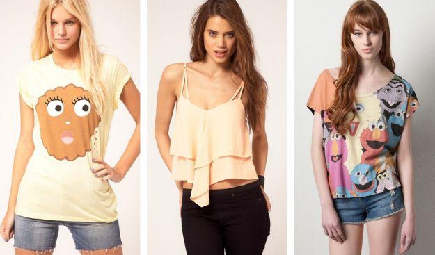 Najmodniejsze topy i t-shirty na sezon wiosna/lato 2012