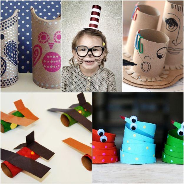 5 pomys��w na prace plastyczne z rolki po papierze