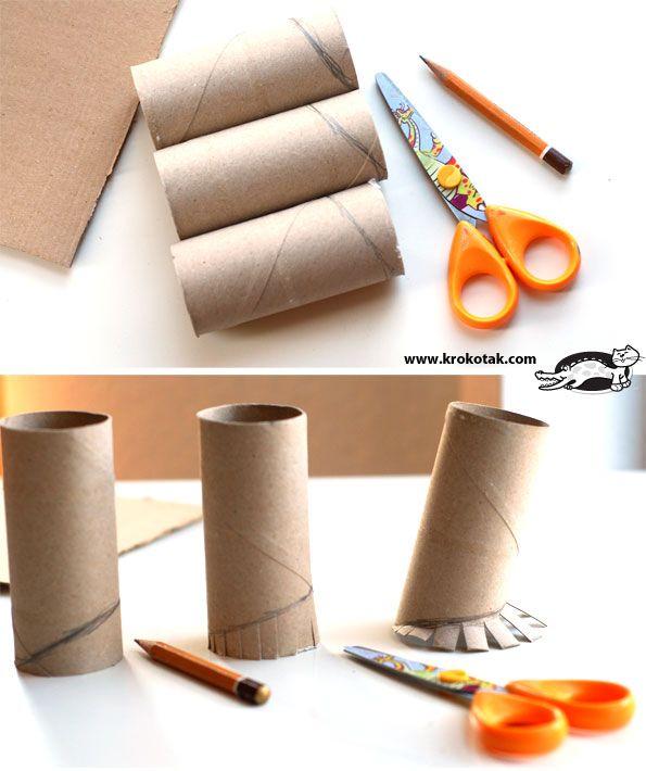 Prace plastyczne z rolki po papierze toaletowym