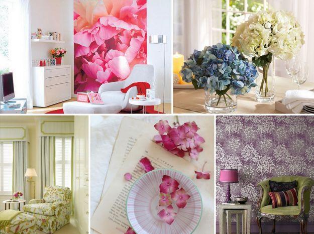 Salon okraszony kwiatami