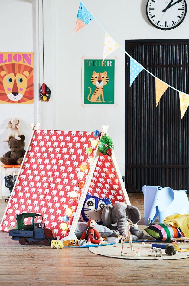 Namiot do pokoju dziecięcego - DIY