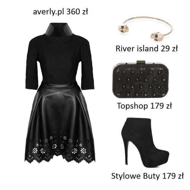 Sukienki ze skórzanym motywem