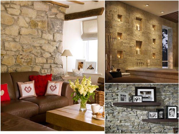 Dekoracyjny kamień w mieszkaniu