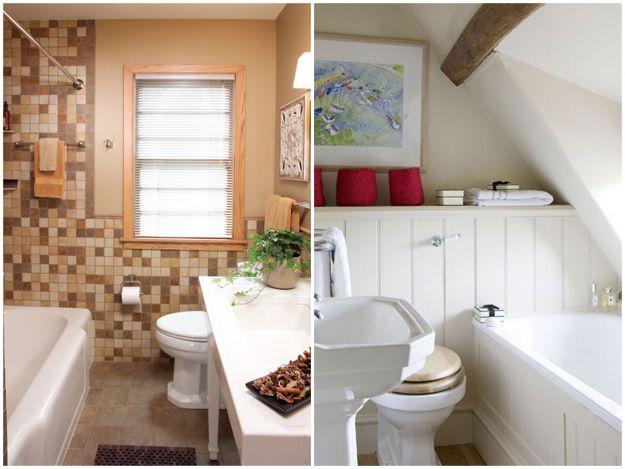 klasyczna mała łazienka