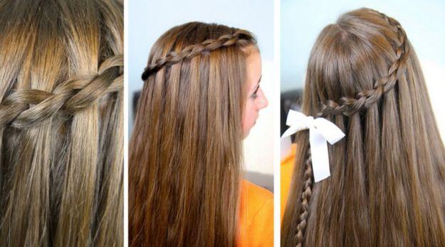 Fryzury dla dziewczynek na Pierwsz� Komuni�