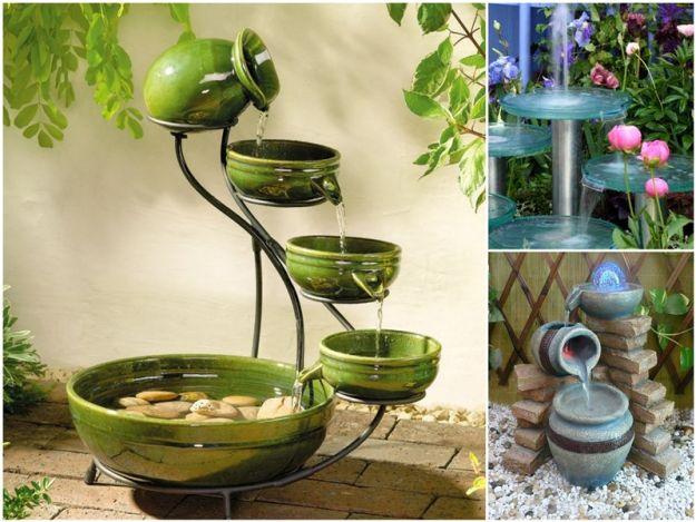urokliwa fontanna ogrodowa