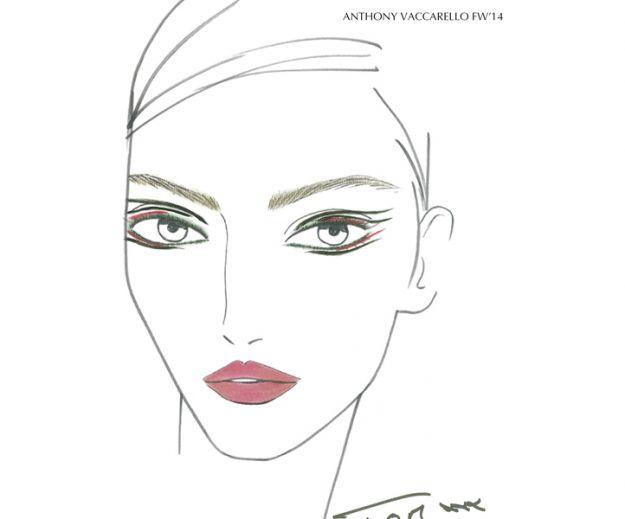 Estée Lauder partnerem makijażu pokazu Anthony Vaccarello w trakcie Fashion Show w Paryżu