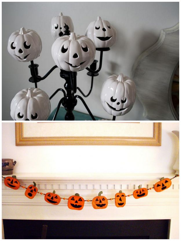 lampion i lampa na Halloween