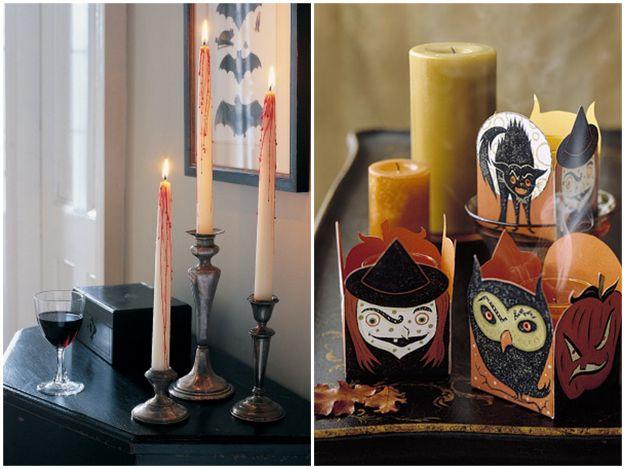 świece na Halloween