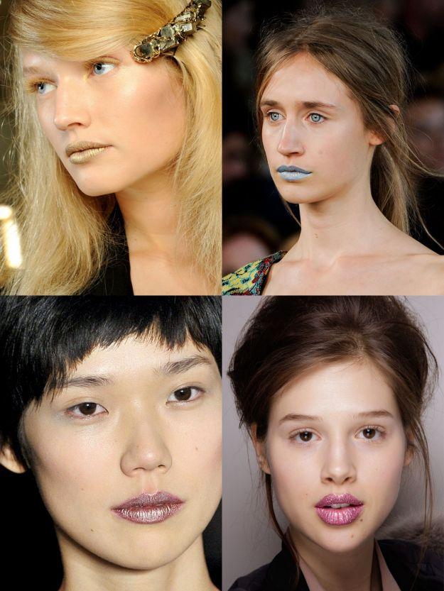 Metalik - nowy trend w makijażu ust!