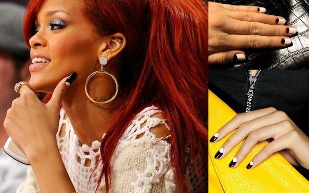 Rockowy moon manicure