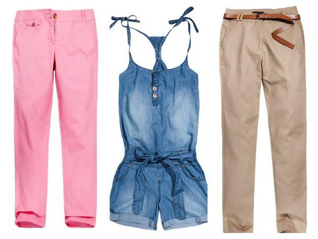 Najmodniejsze spodnie i szorty na sezon wiosna/lato 2012