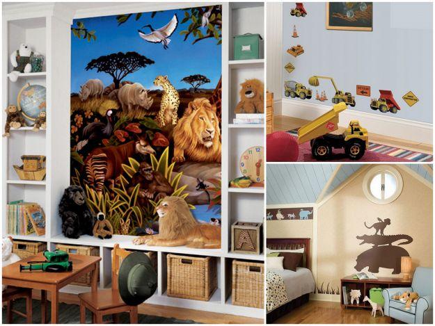 zwierzęce motywy w pokoju dla dzieci