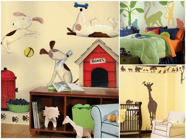 pokój dla dziecka ze zwierzątkami na ścianie
