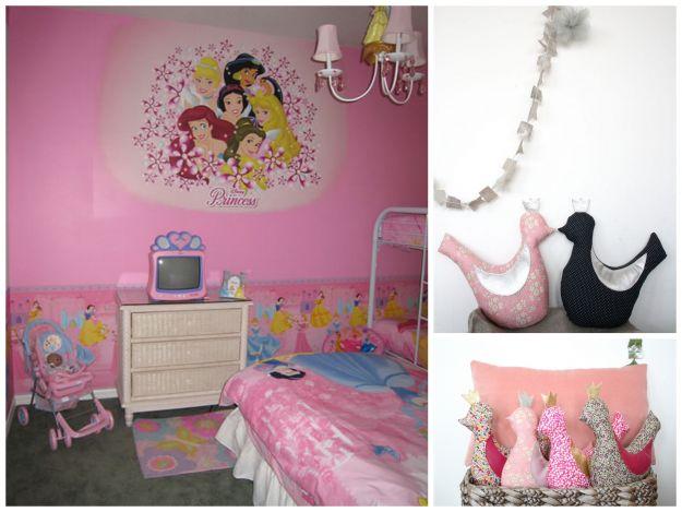 Pokój dla dziewczynki w bajkowych motywach