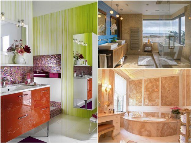Kolorowa łazienka w stylu glamour
