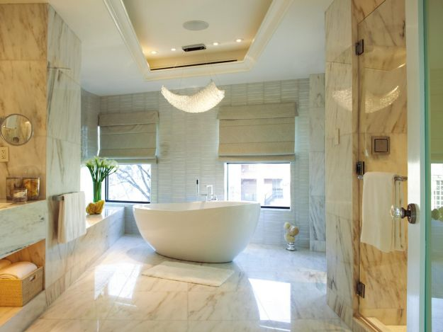 Piękna łazienka w stylu glamour