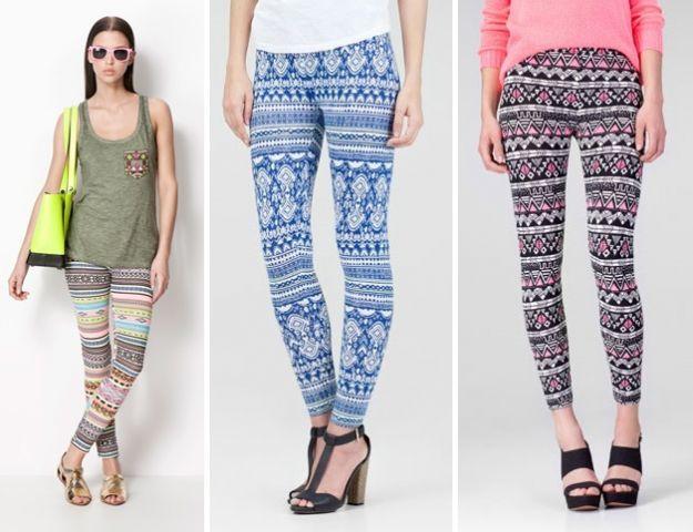 Wzorzyste legginsy - idealne na wiosnę i lato!