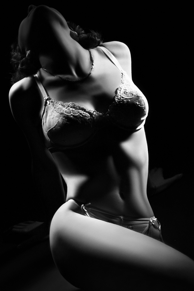 Nude woman. Classical black and white nudity.